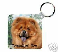 Chow  Chow     red    Personalized  Breed  Key   Chain