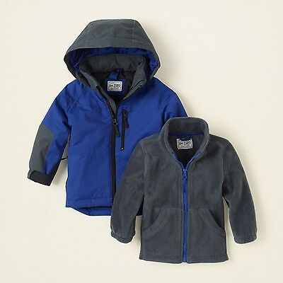 NWT Childrens Place Baby Boys Winter Ski Coat Jacket SZ 6-9 12-18 Months 3 In 1