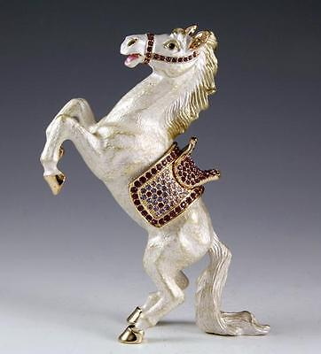 New White Horse High Quality Multicolor Swarovski Crystals Bejeweled Trinket Box