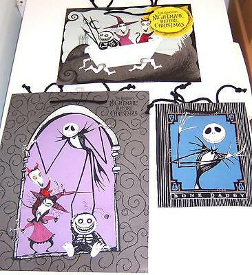 3 dif Vintage Original Release 1993 NBC Nightmare Before Christmas Gift Bags