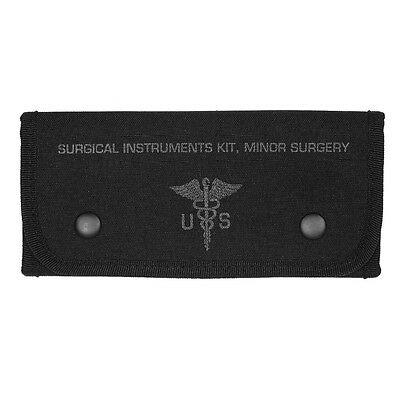 Surgical Instrument Kit Pouch - Black - replica first aid edc pouch - NEW