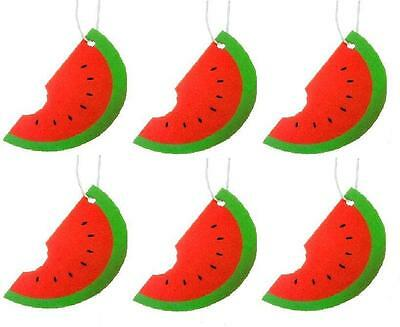 6 x Watermelon Fruit Car Air Fresheners Hanging Scent Home Office Freshener New