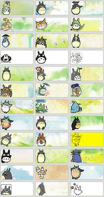 45 TOTORO BEAR LONGMAO Personalised Name Stickers,Labels,Tags,