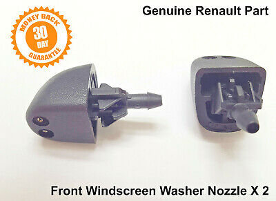 2 x Genuine Renault Trafic Laguna Front Windscreen Washer Jets Jet Spray Nozzle