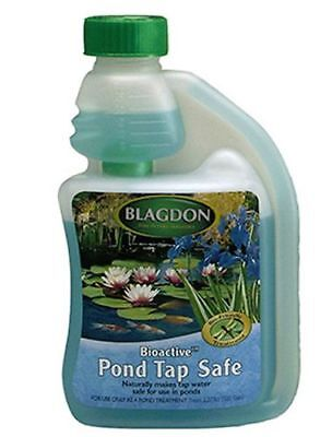 Blagdon Bioactive Fish Pond Tap Safe 250ml Dechlorinator Removes Chlorine