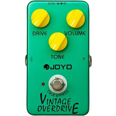 Joyo JF-01 Vintage Overdrive Guitar Effects Pedal w/ True Bypass Bluesy Tone