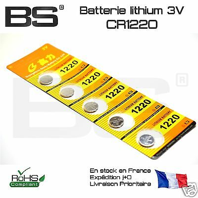 lot 1 2 5 Batterie pile bouton battery CR1220 Lithium 3V Pi FR Pro Exp j+0 10177
