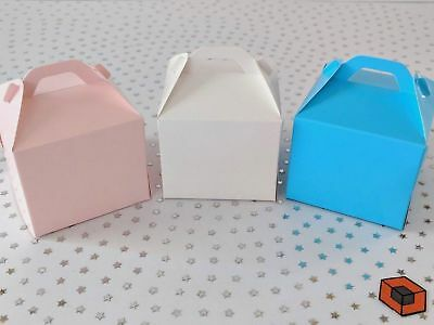 10 or more Premium Single Cupcake Boxes - Pale Pink & Blue ****STAR BUY****