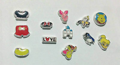 Disney Mickey Mouse, Minnie, Pooh, Tigger Floating Charms for Memory Locket