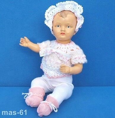 Kohl & Wengenroth Celluloid Sitzbaby Puppe 28 Cm  Um 1920 Doll Offenbach