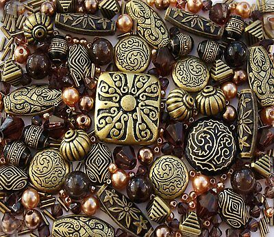 Large Pack of Bronze Black Jewellery Making Beads SOLD AS SEEN