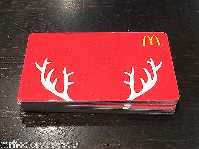 2014 McDonald's CANADA Holiday Red Antlers GIFT CARD (no cash value)