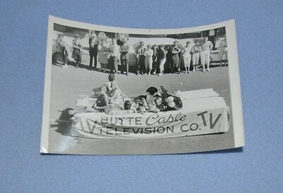 Vintage Butte Cable Television Company Parade News Photograph Name Stamp on Back