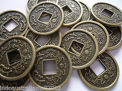 15 Pcs Chinese  Bronze Metal Fortune Coins/I Ching/phoenix Premium 17mm(A123001)