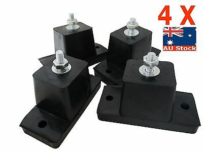 4X Airconditioning Generator Rubber Vibration Feet Rubber Mounts Pads Heavy Duty