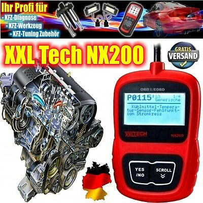 NX200 XXL-Tech OBD Diagnose Scanner komplett in deutsch fast alle KFZ MOTOR +++