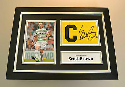 Scott Brown Signed A4 Framed Photo Celtic Captains Armband Autograph Display COA