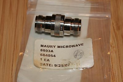 MAURY MICROWAVE 8803A N Type Female-Female Adapter, DC - 18.0GHz, Low VSWR