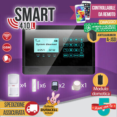 Antifurto Allarme Touch Screen Casa Combinatore Gsm Wireless Cellulare Smart410L