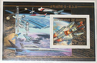 GUINEA 1988 Block 302 A S/S 1084 Space Exploration Raumfahrt Weltraum  ARIANE 5
