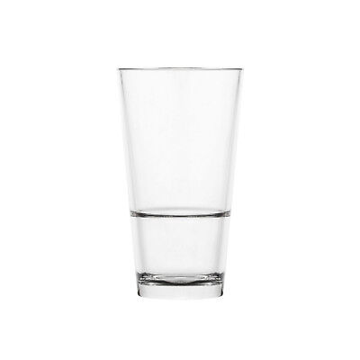 24x Polysafe Highball 425mL Stackable Polycarbonate Plastic Glass Drink Tumbler