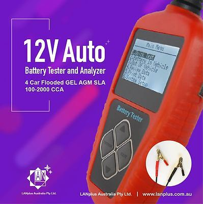 12V Voltage Auto Battery Tester Analyzer 4 Car Flooded GEL AGM SLA 100-2000 CCA