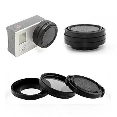 Phot-R 37mm Circular Polarising CPL Filter Lens Cap Adapter Kit for GoPro 3+ 4