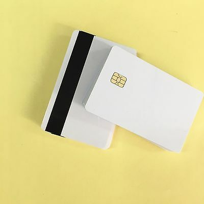 200pcs/Lot 2 in1 FM4442 Chip with Hi-Co Magnetic Stripe PVC Blank Card Printable