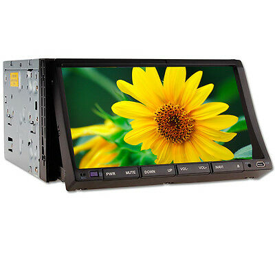 """HD LCD 7"""" Touch Screen Double Din In Deck Car Stereo DVD Player Radio iPod TV BT"""