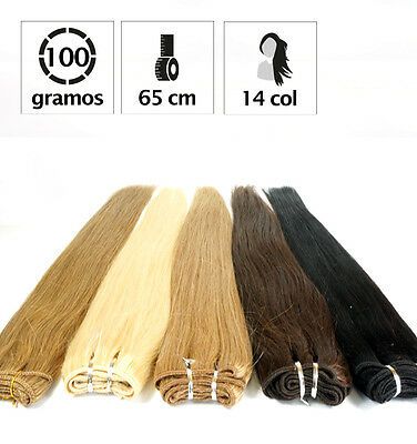 Extensiones De Cortina De Pelo Natural 100Gr. Y 65Cm. De Largo