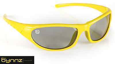 Sporty Yellow Passive 3D glasses inc hard case for cinema (RealD) and 3d TV