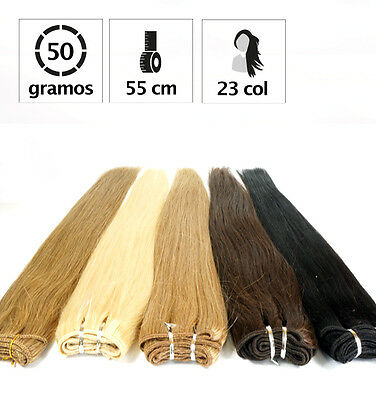 Extensiones De Cortina De Pelo Natural 50 Gr Y 55Cm. De Largo