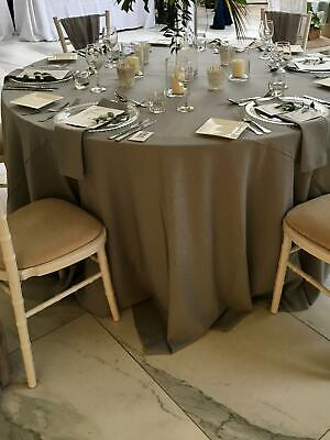 Wide Round Shape TABLE CLOTH TABLECLOTH / TABLE COVER 100% Polyester not Cotton