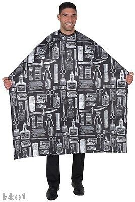 "Betty Dain #188S Vintage Hair styling cloth cape (BLACK) 45"" x 60"" long"