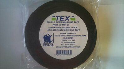 Tex Double Sided Tape Car Truck Moulding Badge Trim 50mmx5mtr x.8mmthick Quality