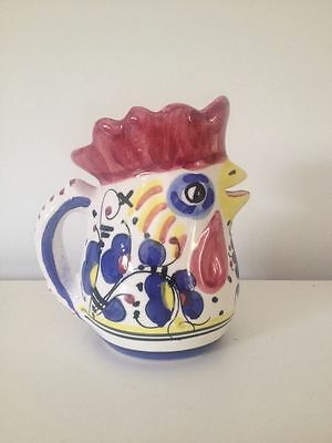 """Rooster Pitcher """"Made in Italy"""" - Small and Multi-Color"""