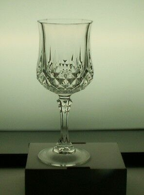 """Cristal d'Arques LONGCHAMP 7 1/4"""" Crystal WATER GOBLETS Glasses 8 available"""