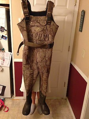 Macks Prairie Wings Waders size 8 Stout hunting duck waterfowl coveralls