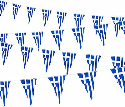 10 Metres  33Ft Greece Greek Flag Bunting Σημαία Τησ Ελλάδασ