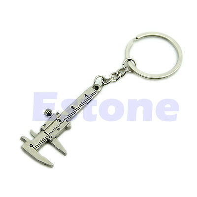 Novelty Simulation Movable Vernier Caliper Model Keyring Key Chain Specail Gift