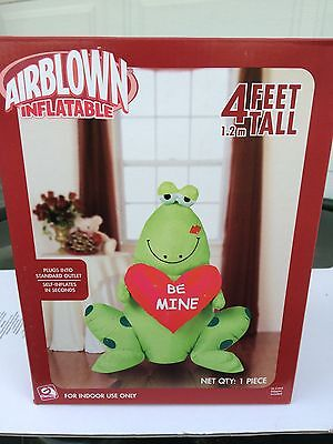 NEW GEMMY 4 FOOT TALL FROG BE MINE VALENTINES AIRBLOWN  INFLATABLE