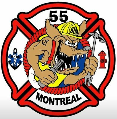 Montreal firefighter patch 55
