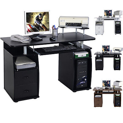 Computer Desk MDF Black Home Office PC Table Work Station Home &Office Furniture
