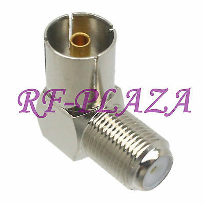 1pce Adapter F TV female jack to IEC PAL DVB-T female right angle RF COAXIAL