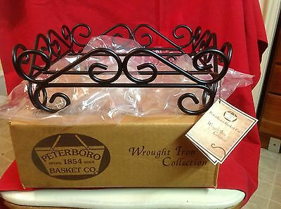 Peterboro Basket Co. Wrought Iron Collection Basket Holder Holiday Display