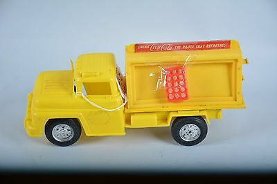 ***Rare*** Vintage 12'' Buddy L yellow Coca-Cola delivery Truck Toy