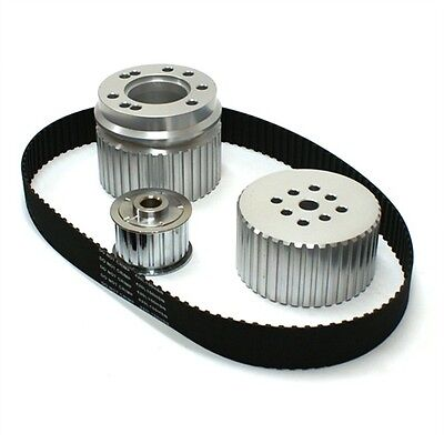 SMALL BLOCK FORD 289 302 351W WINDSOR GILMER BELT DRIVE PULLEY KIT SBF