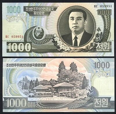 KOREA  1000 Won 2006 UNC P 45 b