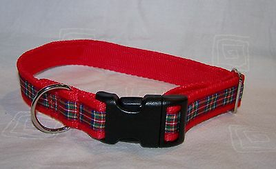 Royal Stewart tartan red dog collar or lead or complete collar & lead set