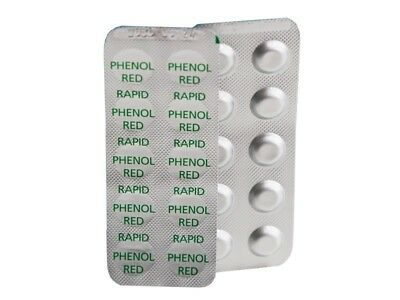 100 BAYROL pH-Wert Testtabletten Phenol Red für Pooltester
